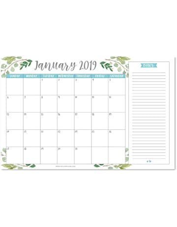 2e6b05a9ab080f Greenery 2019-2020 Large Monthly Desk or Wall Calendar Planner