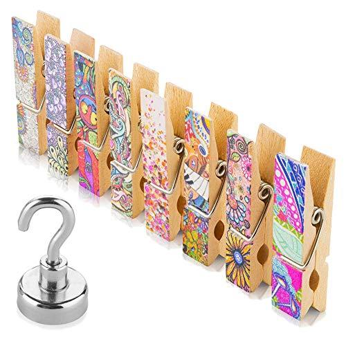 Fridge Magnets Set - 8 Strong Decorative Magnetic
