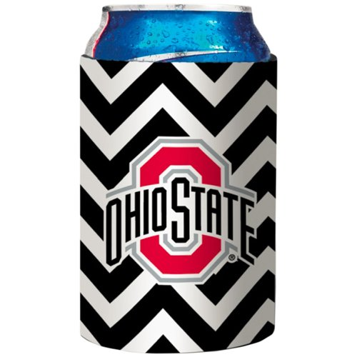 Victory Postcards NCAA Ohio State Buckeyes Chevron Design Neoprene Can Coolie, One Size,White
