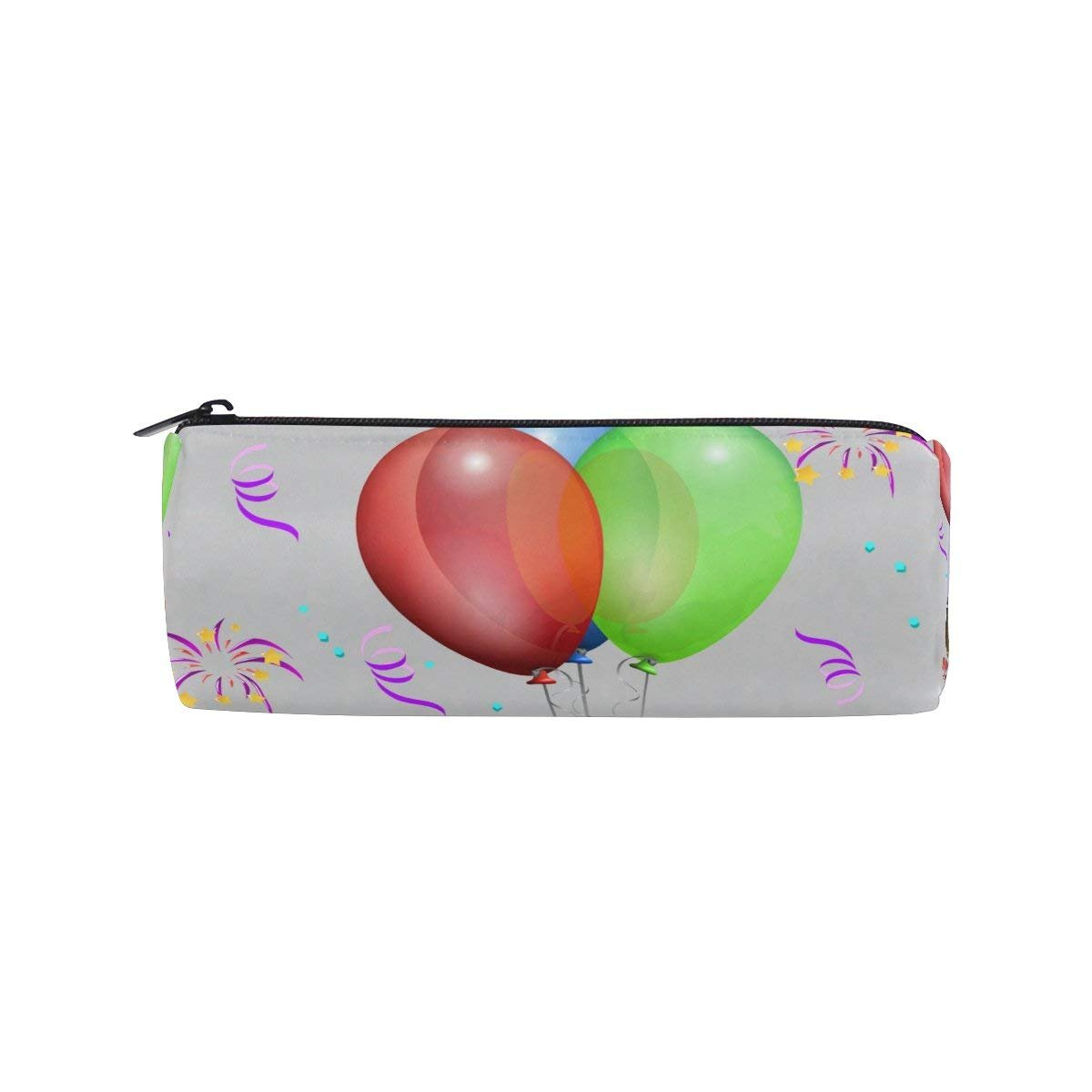 Balloon Liqueur Glasses Gift Round Pencil Case Stationery Bag Zipper Pouch Pencil Holder