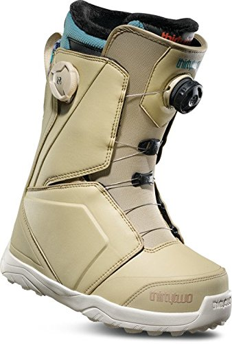 Blue Womens Snowboard Boots - ThirtyTwo Women's Lashed Double Boa '18 Snowboard Boots, Size 5.5, Tan/Blue