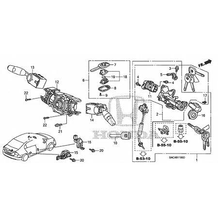 Amazon Com Honda Lower Transmitter Key Case Automotive