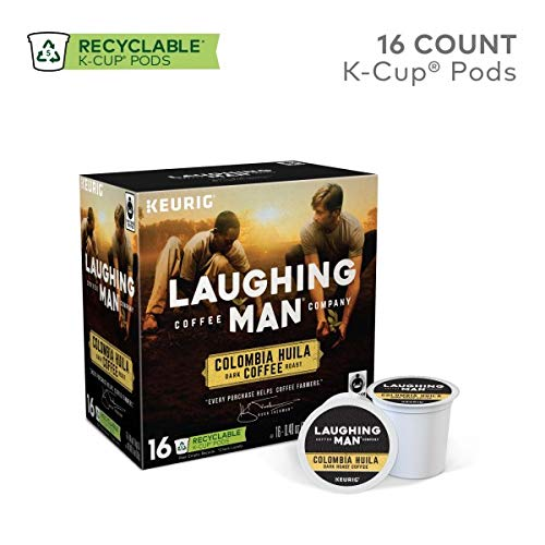 Laughing Man, Colombia Huila, Single-Serve Keurig K-Cup Pods, Dark Roast Coffee, 96 Count (6 Boxes of 16 Pods) by Laughing Man (Image #1)