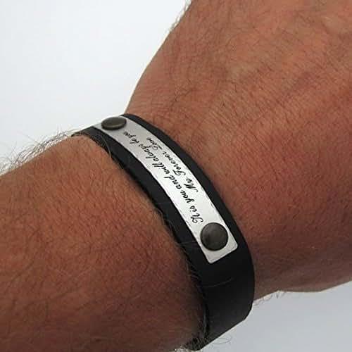 amazoncom personalized bracelet for men custom