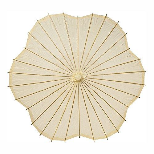 Bazaar Paper Parasol 33 Inch Scalloped