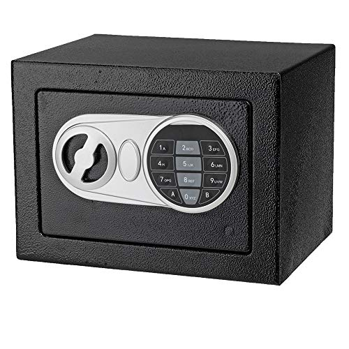 onEveryBaby Safe 17E Home Use Upgraded Electronic Password Steel Plate Safe Box Black