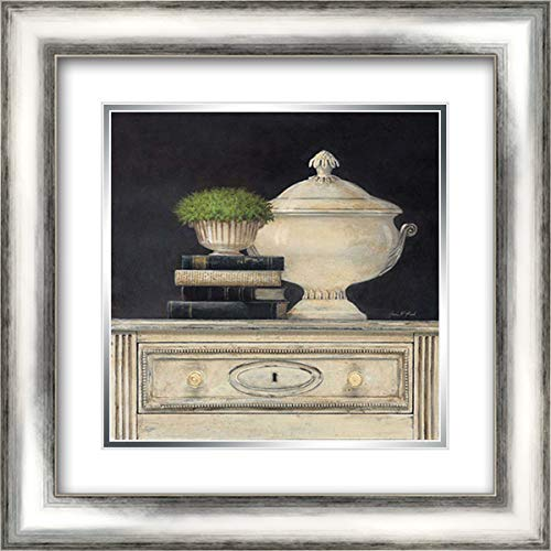 Cream Tureen 20x20 Silver Contemporary Wood Framed and Double Matted Art Print by Fisk, Arnie