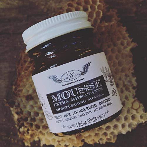 Mousse Extra Hidratante 50 gr / 1.76 oz - Friega Sólida - Apapacho para todas las pieles - Hidrata de la cara a los pies -...