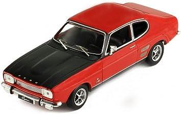 Ford Capri 1700 GT 1970 rot schwarz Modellauto 1:43 ixo models