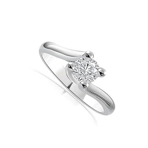 74b19b2d090be5 Anello di fidanzamento Solitario donna oro bianco 18 carati diamante  naturale taglio brillante 0.20ct - colore G e purezza SI1 - INFINITY OF  LONDON JEWELRY: ...