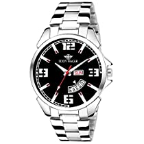Eddy Hager Black Day and Date Men's Watch EH-208-BK