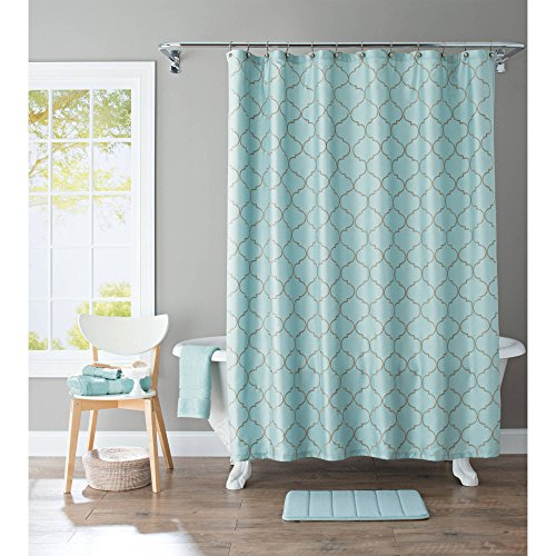 Better Homes and Gardens Scalloped Trellis Embroidered Fabric Shower Curtain from Better Homes and Gardens