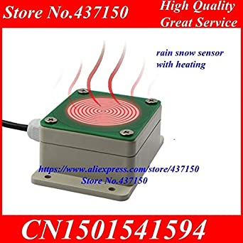 Fevas Rain and Snow Sensor, rain, Snow Storm Detection Transmitter, RS485 or Relay Output with Heating Function - (Color: RS485 with Heating): Amazon.com: ...