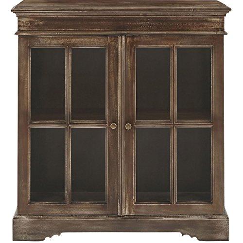(Stein World 2-Door Bookcase in Brown Finish)