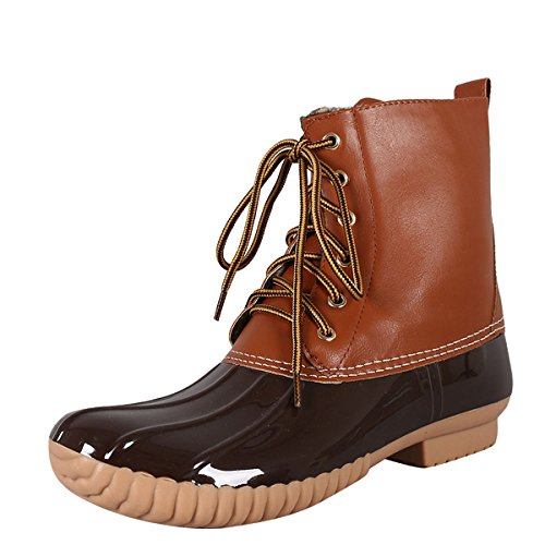 Shoes Lace up Camel CAPE Wellies Rain Womens Booties Boot ROBBIN Waterproof Pull Round On Duck Toe Ankle 1RwZIxwXaq