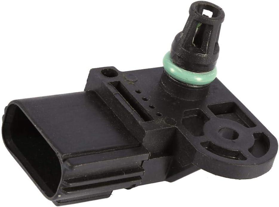 Qiilu Auto Ansaugkr/ümmer Luftdrucksensor 4-poliger Ansaugkr/ümmer Absolutdrucksensor MAP Sensor 0261230044