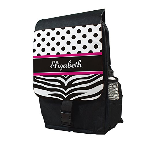 (Personalized Zebra Print Backpack, 14