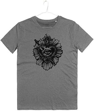 INSIDETSHIRT – Camiseta para Hombre, diseño de Tatuaje de corazón ...