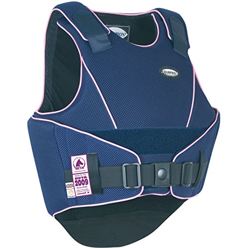 Champion Flexair Body Protector Body Protector Large Long (Jnr) Navy/Pink