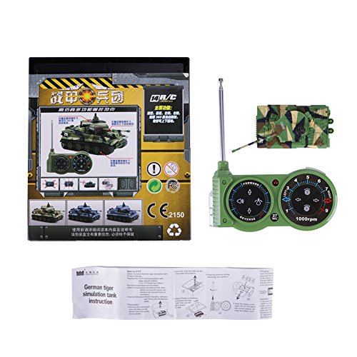 Tank Model Kit, Giveme5 German Tiger I Panzer Tank Diecast with Remote  Control, Battery, Light, Sound, Rotating Turret and Recoil Action When  Cannon