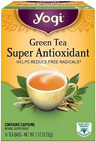 Yogi Herbal Green Tea, Super Antioxidant 16 ea ( pack of 6)