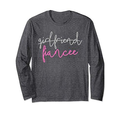 Unisex Girlfriend Fiancee T Shirt, Fiance Engagement Party Large Dark Heather