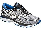 ASICS Mens Gel-Cumulus 19 Running Shoe, Grey/Black/Directoire Blue, 6 Medium US