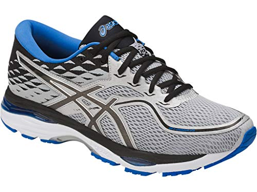 ASICS Mens Gel-Cumulus 19 Running Shoe, Grey/Black/Directoire Blue,...