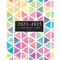 2021-2025 Five Years Monthly Planner-Triangle: 60 Months Yearly