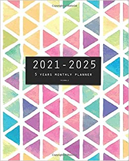 Book's Cover of 2021-2025 Five Years Monthly Planner-Triangle: 60 Months Yearly Planner and Calendar, Agenda Schedule Organizer Logbook and Appointment Notebook with Federal Holidays (Inglés) Tapa blanda – 16 mayo 2020