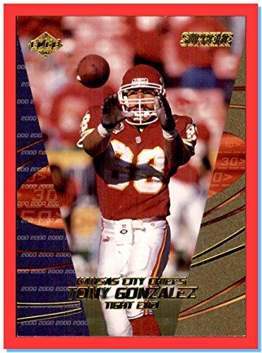 2000 Collector's Edge Supreme #69 Tony Gonzalez KANSAS CITY CHIEFS CALIFORNIA GOLDEN BEARS CAL