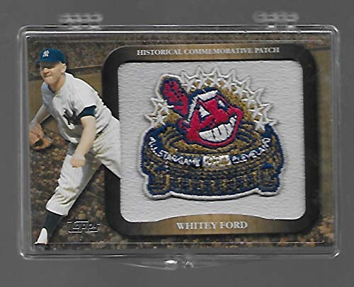 2009 All Star Baseball - Whitey Ford 2009 Topps Baseball Legends of the Game Commemorative Patch Card #LPR-18 - New York Yankees - 1954 All Star Game - Stored in a Protective Plastic Display Case!!