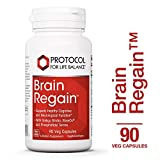 Protocol For Life Balance – Brain Regain™ – Supports Healthy Cognitive & Neurological Function with Ginkgo Biloba, RoseOx, and Phosphatidyl Serine – 90 Veg Capsules For Sale