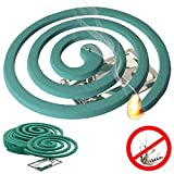 W4W Mosquito Repellent Coils - Outdoor Use Reaches Up to 10 feet - Each Coil Burns for 5-7 hours (Five Pack Contains 20 coils & 10 coil stands)