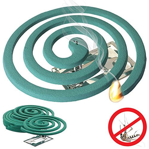 Citronella Mosquito Repellent Coils - Outdoor Use Reaches Up to 10 feet - Each Coil Burns for 5-7 hours (Twelve Pack Contains 48 coils & 24 coil - 10 Insect Hour Repellent