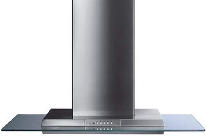 Smeg KSEV97X - Campana (870 m³/h, Canalizado/Recirculación, 68 dB, Isla, Acero inoxidable, Vidrio, Acero inoxidable): Amazon.es: Hogar