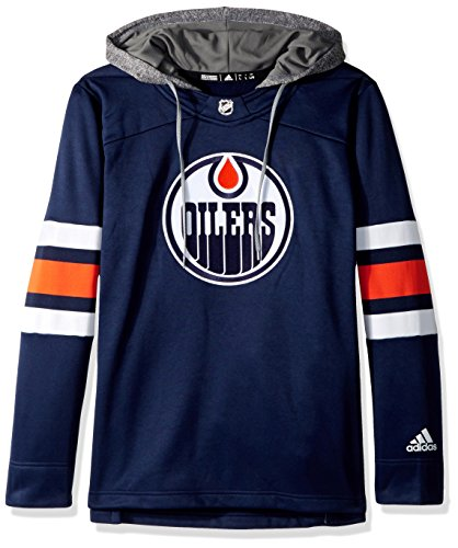 adidas NHL Edmonton Oilers Authentic Crewdie Jersey, Dark Blue, Small