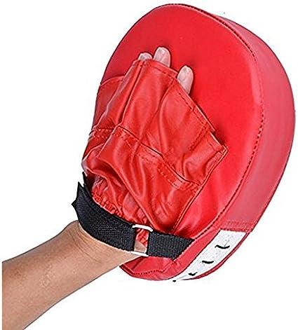 Boxing Training Glove Mitt Target Focus Punching Pad Karate Muay Kick Red Black