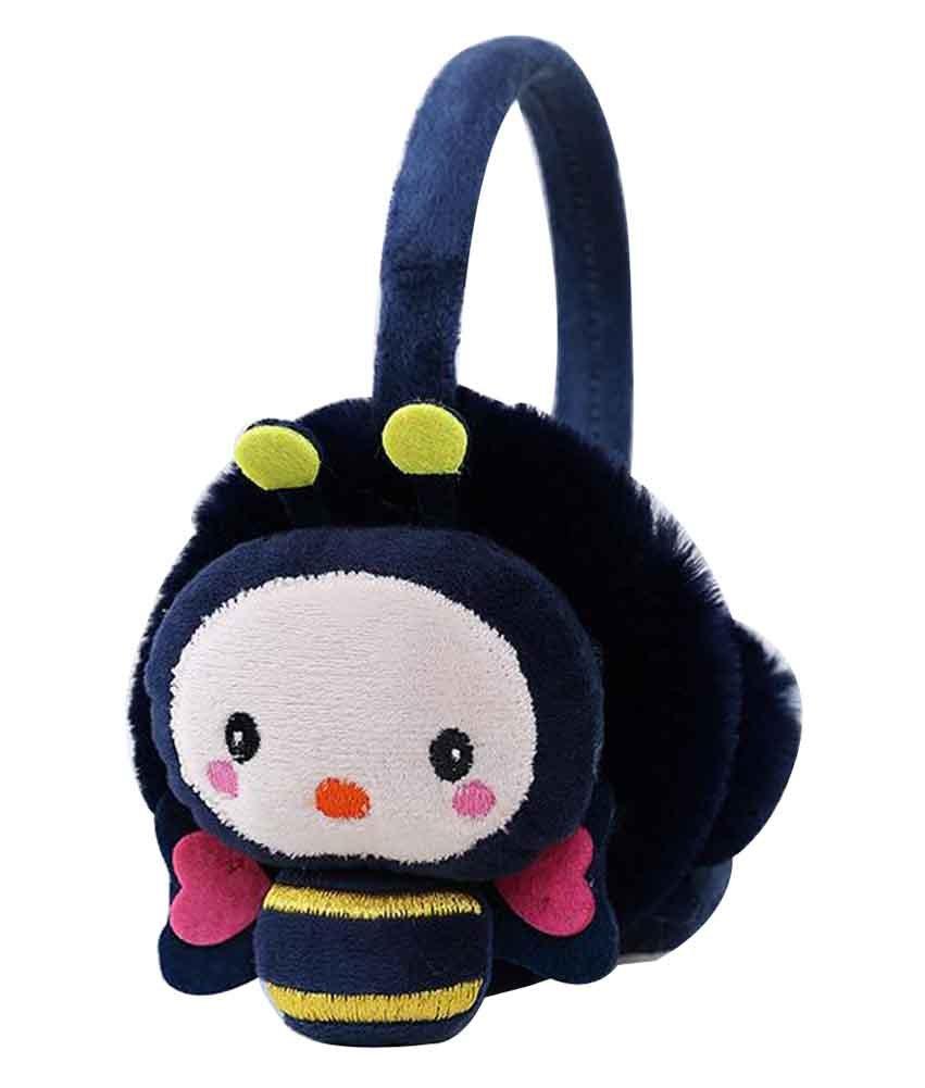 Lovely Earmuffs Plush Earmuff Ear Protection, Cute Bee [C] Black Temptation