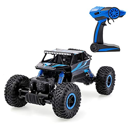 Geburun RC Car with Two Battery 4WD 2.4Ghz 1/18 Crawlers Off Road Vehicle Toy Remote Control Car