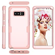 Galaxy Note8 Case, MCUK [Shockproof] 3 in 1 High Impact Hybrid Armor Defender Silicone Rubber Hard Skin Heavy Duty Full-Body Protective Case Cover for Samsung Galaxy Note 8 (Rose Gold+Rose Gold)