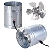 Yescom 6″ Inline Duct Booster Fan 260CFM Cooling Exhaust Blower for Indoor Home Grow Tent(pack of 2) Review