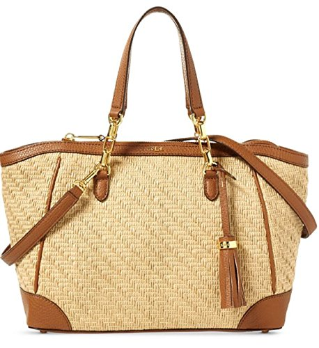 LAUREN Ralph Lauren Women's Howley Stefanie II Satchel Small Natural One Size by Lauren by Ralph Lauren