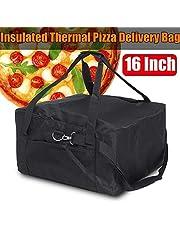 GCDN - Bolsa térmica para Pizza (40,6 cm), Color Rojo y Negro
