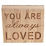 ULTNICE YOU ARE ALWAYS LOVED Block Sign Plaque Ornament Decor