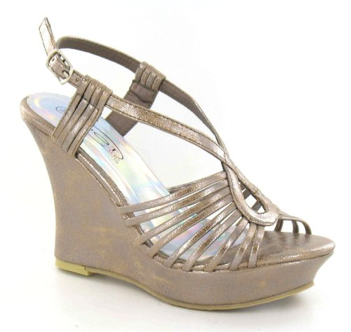 Spot On - Sandalias de vestir para mujer marrón - Bronze