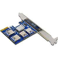 New PCI Expansion Card 1 to 4 PCI Slots USB 3.0 Converter Adatper PCIE Riser Cards for Bitcoin Mining Device