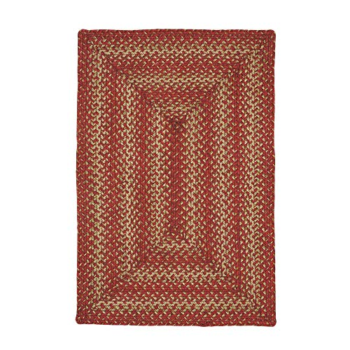 Homespice Rectangle Jute Braided Rug - All Natural Fiber 8' x 10' Area Rug, Made with Natural Jute Twine - A Reversible Rug for Rustic Home Décor Apple Pie Rectangle Jute Rug 8' x 10'
