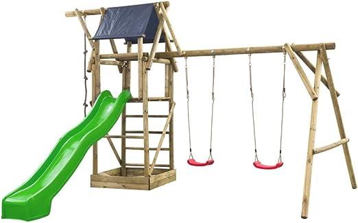 Swing King Conjunto de área de Juego de jardín para niños Niels tobogán Verde: Amazon.es: Jardín