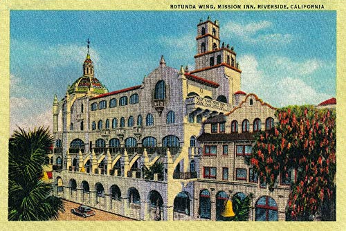 Riverside, California - Mission Inn, Rotunda Wing (16x24 SIGNED Print Master Giclee Print w/Certificate of Authenticity - Wall Decor Travel Poster) ()